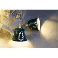 Upcycling Lichterkette Tannenbaum aus Kaffeekapseln