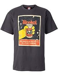 "The Simpsons Herren T-Shirt ""Duff Beer - The Solution"", 100% Baumwolle, dunkelgrau"
