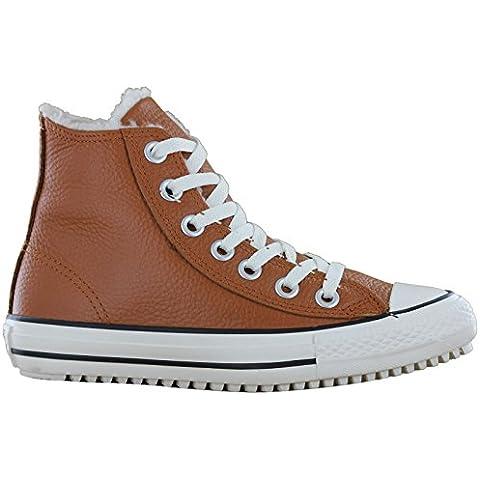 Converse Chuck Taylor de zapatillas zapatos de mujer con forro caliente de nieve CT All Star de barco tubos de zapatillas de color marrón talla