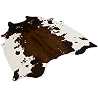 textilerfromchina Tapis Imitation Peau de Vache, imprimé Animal, Tapis pour la Maison 135 x 140 cm