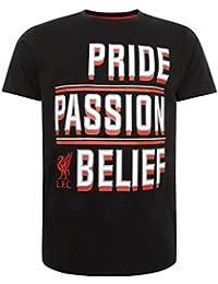 Liverpool FC LFC Mens Black Cotton Crew Neck T-Shirt NWT Official