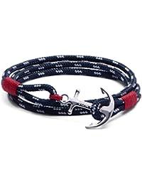 Tom Hope Bracelet Atlantic 3en tissu et argent sterling 925