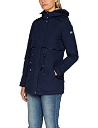 TOM TAILOR Denim Damen Mantel Parka with Teddy Fur