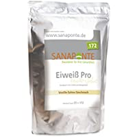 SANAPONTE Eiweiß Pro | 1000g hochdosiertes Eiweißpulver/Proteinpulver mit bcaa | Vanille- Sahne Geschmack | Bei... preisvergleich bei fajdalomcsillapitas.eu