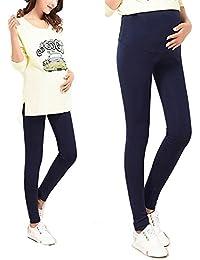 d1eb122347b Bold N Elegant Navy Blue Thin Summer Pregnancy Belly Maternity Leggings  with Adjustable Elastic Waist for