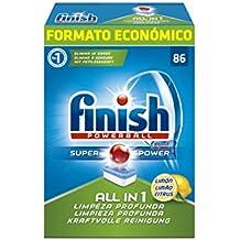 Finish Todo en 1 Orginial Lavavajilllas Pastillas Limón - 86 pastillas