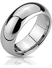 Bling Jewelry Tungsten y Ajuste Confort banda 6mm Anillo de Boda