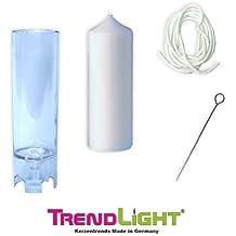 TrendLight 860498 - Molde de fundición para vela (60 x 200 mm, con mecha de 1 m, soporte para mecha e instrucciones)