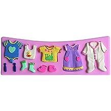 Molde de silicona 3D para decoración de tartas, diseño para fiestas ...