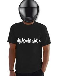 Planète motard - T shirt motard évolution biker - T shirt moto - T shirt homme - évolution de l'homme