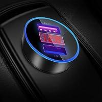 YGKJ Cargador de Coche, Quick Charge 3.0+2.4A 30W Carga Rapida Doble Puertos USB Adaptador Automóvil Cargador Móvil de Coche para Teléfonos y Tabletas, iPhone, Samsung, LG, HTC, Sony, Huawei y más