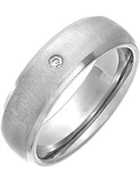 Theia Unisex-Ring Titan Court Diamant 0.05ct Matt 7mm - Gr. 53 (16.9) TH2644