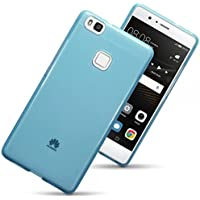 Huawei Ascend P9 Lite Case - The Keep Talking Shop Huawei P9 LITE Case - Silicone Gel Cover Blue Protective Bumper Shockproof Shock Absorber TPU Case For Huawei P9 Lite