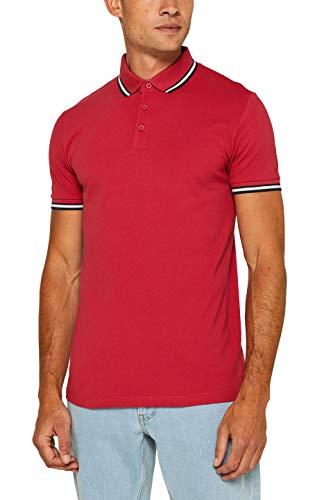 ESPRIT Herren 079EE2K015 Poloshirt, Rot (Red 630), Large (Herstellergröße: L)