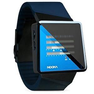 Nooka ZIZM MB - Reloj digital de cuarzo unisex con correa de caucho, color azul de Nooka