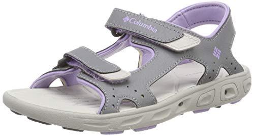 Columbia TechsunTM Vent, Sandalias para Niñas, Gris Tradewinds Grey, White Violet, 26 EU