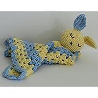 Manta de apego para bebé Azul y Amarillo Conejito