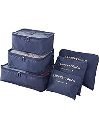 Organizador de equipaje - Youson Girl® 6 PCS Viajes Bolsas-en-Bolsa, viaje de equipaje Packing Cube Cosméticos caso de ropa Organizadores de almacenamiento Bolsas Set