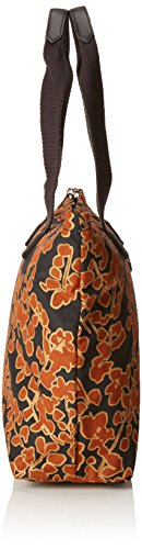 Kipling NIAMH Borsa per il Pranzo, Metallic Blck ( Nero) Floral metallic