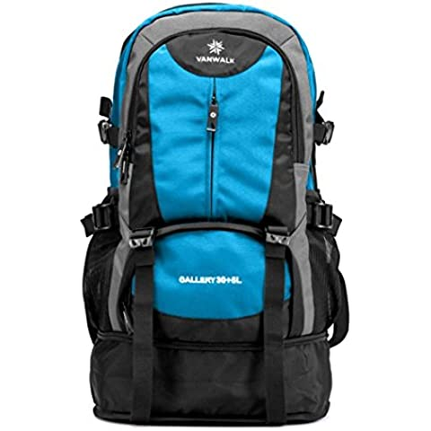 Vanwalk Lightweight and versatile Travel Backpack for Notebooks up to 15 inches 30L+5L(sky blue)