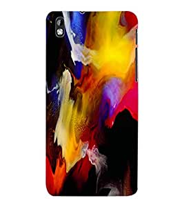 ColourCraft Abstract Art Design Back Case Cover for HTC DESIRE 816