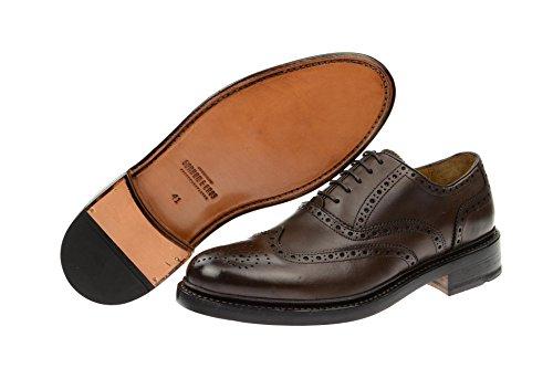 Gordon & Bros. Herrenschuhe - rahmengenähte Schuhe - GoodYear Welted LEVET Dunkel-Braun