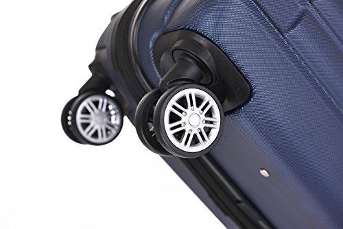 BEIBYE 2088 Zwillingsrollen Reisekoffer Koffer Trolleys Hartschale M-L-XL-Set in 13 Farben (Dunkelblau, XL) - 9