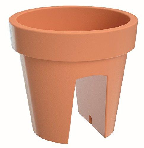 Prosper Plast Dlofr250-r624 24.5 x 24.5 x 22.5 cm Lofly Railing Pot à Fleurs en Terre Cuite