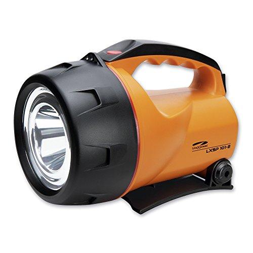 LiteXpress LXL60000R9 LXSP101-2 Akku-Handscheinwerfer, 1 Cree Hochleistungs-LED mit Lichtleistung bis zu 350 Lumen, wiederaufladbar Leistungsangabe nach ANSI-Standard, orange/schwarz