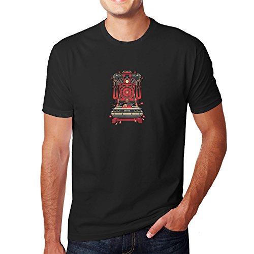 Planet Nerd - Delorean 88 - Herren T-Shirt, Größe M, schwarz