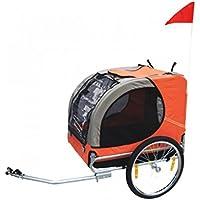 Festnight Remolque para Mascota De Bicicleta Perro Rojo Naranja