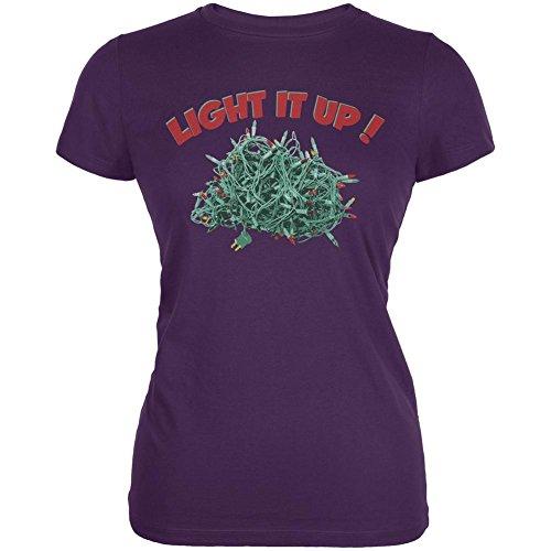 Weihnachten leuchten lila Junioren weiches T-Shirt Purple