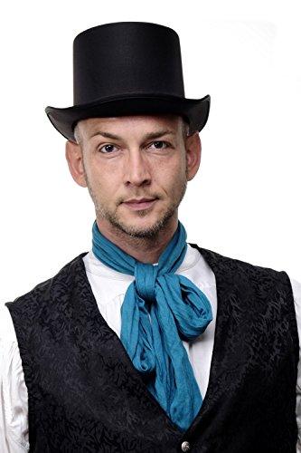DRESS ME UP - Hut Topper Zylinder Gentleman England britisch Jack the Ripper schwarz bezogen VJ-202 Victorian London
