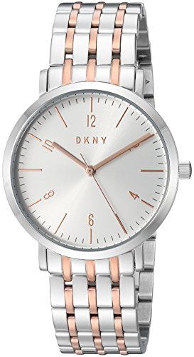 DKNY Women's 'Minetta' Quartz Stainless Steel Casual Watch, Color:Silver-Toned (Model: NY2651)
