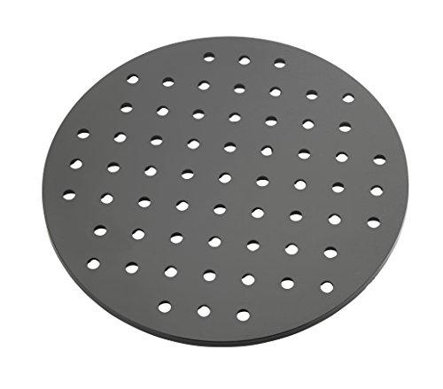 Wenko 2005576100 Spülbeckeneinlage Kristall extra stark, rund, Kunststoff, schwarz, 31 x 31 x 1 cm