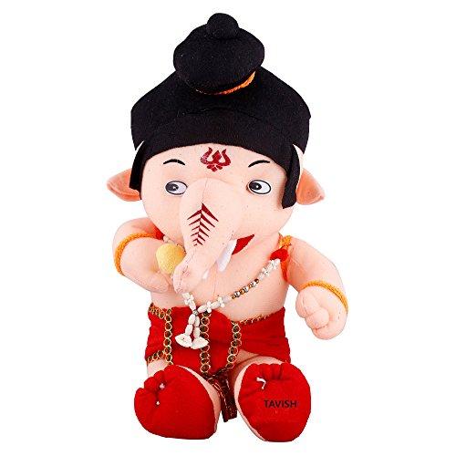 TAVISH Bal Ganesh Ganpati Teddy Bear Soft Stuffed Plush Toy Kid Children Birthday Gift