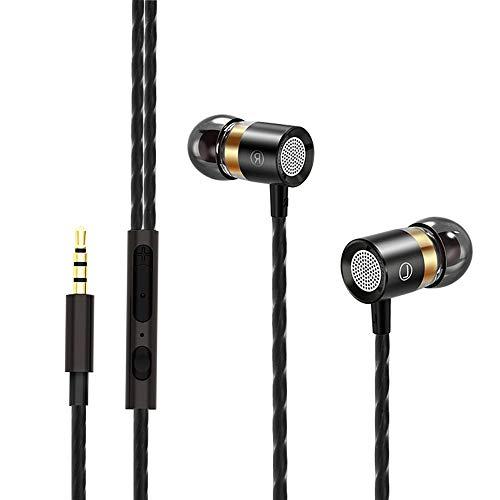 2019 Neu Etmury In Ear Kopfhörer HiFi Kopfhörer, 3.5mm Wired Bass Stereo Headset with Mikrofon und Volumen Steuerung für Meisten Smartphones Tablets Mp3 MP4, Noise Cancelling Ohrhörer Mp3 Mp4 Stereo Kopfhörer