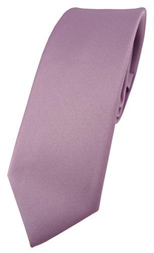 TigerTie schmale Designer Krawatte in flieder einfarbig Uni - Tie Schlips