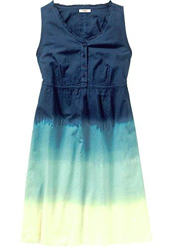Sheego Damen-Kleid Batiklook-Kleid Blau Größe 52