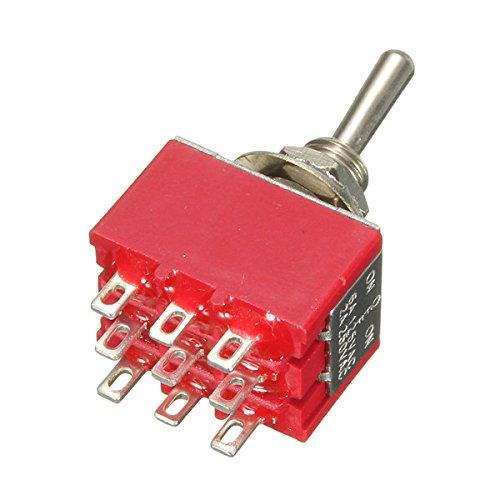 Conmutador miniatura 9pines 3PDT 2a/250V 6A/125V