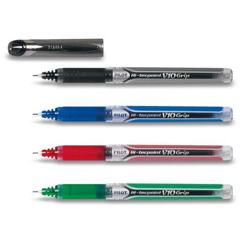 pilot-hi-tecpoint-v10-grip-4er-set-schwarz-blau-rot-grun