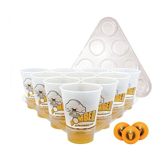 nkspiel Spielzeug Kit 20 Cups 3 Bälle 2 Racks Weihnachtsfest Pub Bbq Geschenk (Ladder Ball Bälle)