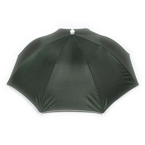 sourcingmap® Elastisches Stirnband Strand Regenschirm Hut zum Angeln Marine-grün