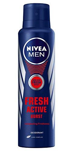 Nivea Men Fresh Active Burst Deodorant, 150ml  available at amazon for Rs.186