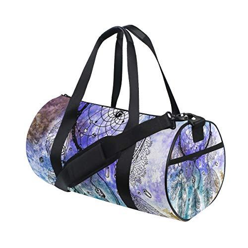 LUPINZ - Bolsa de Deporte de poliéster con diseño de atrapasueños para Mujer y Hombre, 18 x 9 x 9,5 Pulgadas