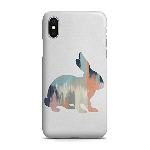 artboxONE Apple iPhone X Premium-Case Handyhülle Brushed Rabbit von Orara Studio