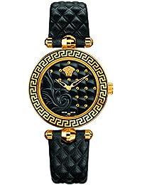 be6496e2e024 Versace Damen Analog Quarz Uhr mit Leder Armband 7.63003E+12