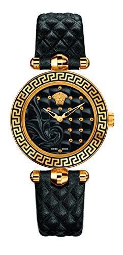 Versace Reloj Analógico para Mujer de Cuarzo con Correa en Cuero 7630030507311