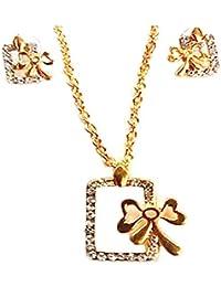 Kpax Fashions Golden Color Alloy Necklace Set For Women,KPX01
