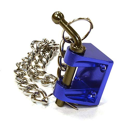 Integy RC Model Hop-ups C26439BLUE Realistic 1/10 Scale Fixed Clevis Bracket w/Pin for Off-Road Trail Rock Crawling -